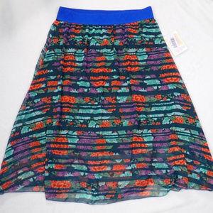 New Lula Roe Lola floral midi skirt, size M
